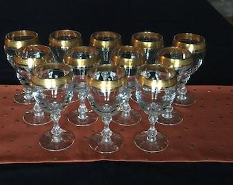 Tiffin Franciscan WESTCHESTER Water Goblets; Set of 12