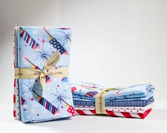 Riley Blake Red, White, and Blue FQ Bundle