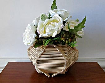 ON SALE Round Posicle Stick Vase - Natural Wood Home Decor