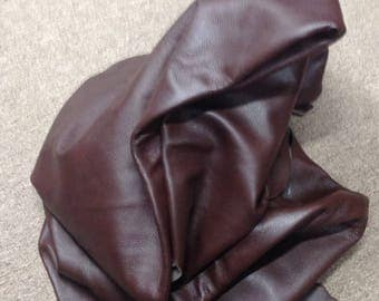 6-893.  Chocolate Brown Leather Cowhide Partials
