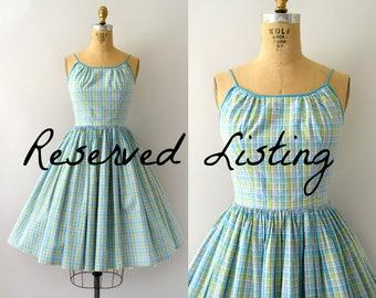 RESERVED LISTING -- 1950s Vintage Sundress - 50s Jonathan Logan Summer Plaid Dress