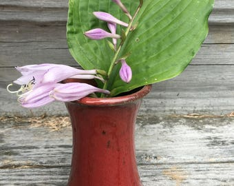 Small Red Stoneware Vase