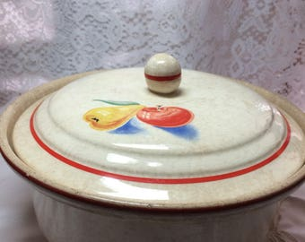 Hall Ovenware Casserole  Bowl with Lid