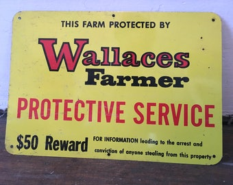 Old Wallace Farmer SIgn