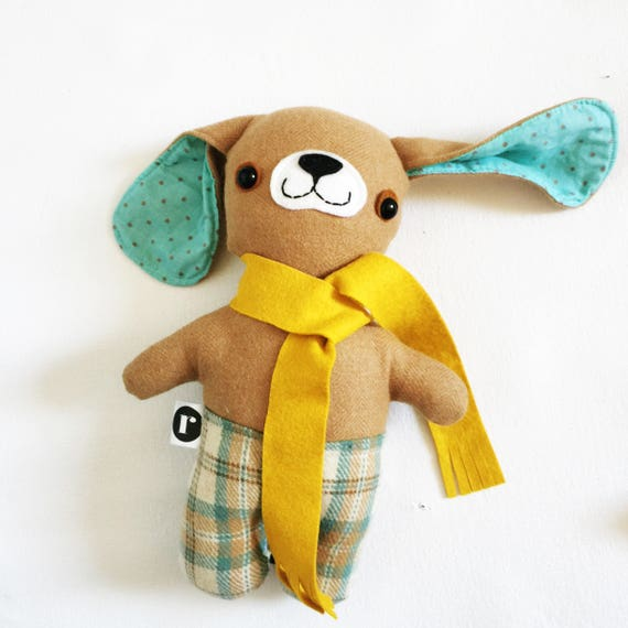 Puppypants in Gold Wool Scarf - READY TO SHIP