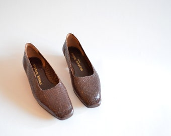 Vintage STEPHANE KELIAN woven leather shoes / 6