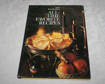 """Vintage Hard Cover Book """" Good Housekeeping """" """" All - Time Favorite Recipes """" 1971"""