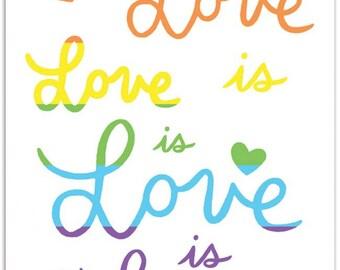 Love is Love Notecard
