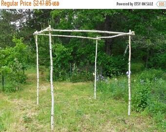 4th of July Sale Wedding Chuppah/ Birch Wedding Arch