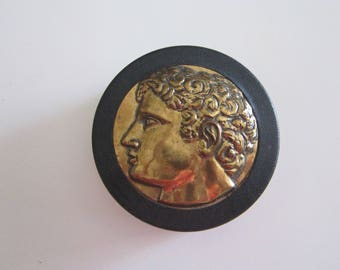 vintage box - SWANK Roman style presentation box - jewelry box, stash box, trinket box - 3.25 inches