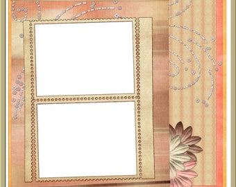 Simply Soft Digital Quick Page - INSTANT DOWNLOAD - Peach Flowers Cream