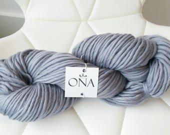 Super Chunky Yarn. Merino Wool. Knitting Yarn. Grey