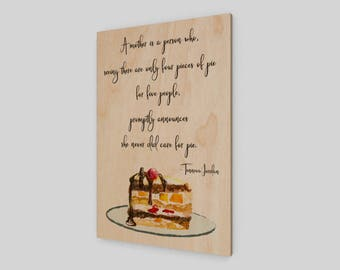 A mother is a person who, Wood Print, Mother's Day Gift, Mother's Day, Mom, Mother, Wood Sign, Rustic Wood Sign, Mother Saying,