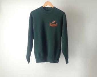 vintage SEATTLE SUPERSONICS vintage 90s Gary Payton Shawn Kemp men's medium SONICS sweatshirt raglan pullover crew neck