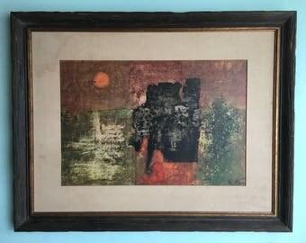 MID CENTURY MODERN Abstract Print