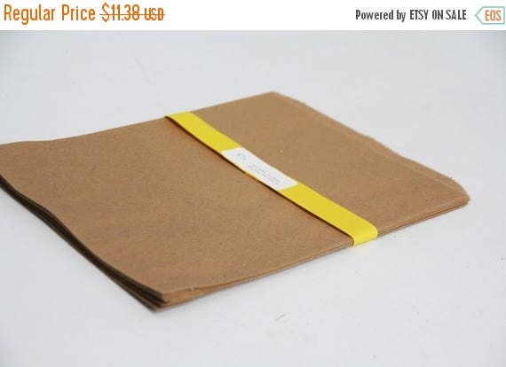 ON SALE Kraft Paper Bags size- 8.5x11 inches  Lot of 75
