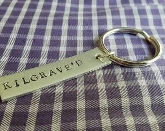 KILGRAVE'D Jessica Jones Kilgrave Inspired Handstamped Aluminium Keychain