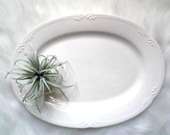 Vintage Pfaltzgraff Platter, Stoneware Platter, Filigree Oval Serving Platter, Appetizer Tray, Wedding Decor