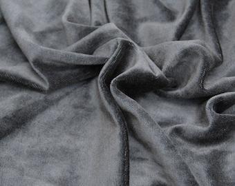 BAMBOO Velour Fabric, Certified Organic, Black