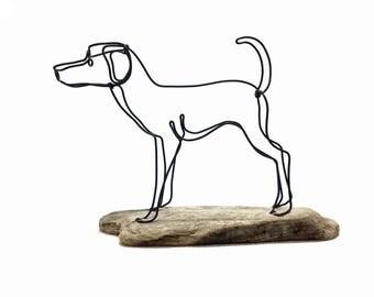 Dog Wire Sculpture, Dog Wire Art, Puppy Wire Sculpture, Home Decor, 563294930