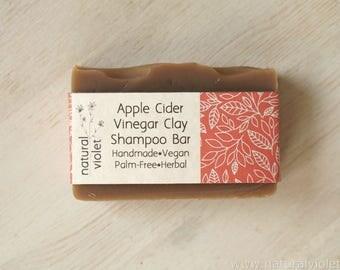 Apple Cider Vinegar, Shampoo Bar, Vegan Shampoo, Solid Shampoo, Hair Care, Palm Free, Hair Soap, Clay Shampoo, Organic Bar, Vegan Soap Bars