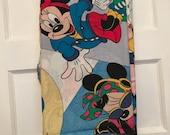 Vintage Minnie Mouse Disney Flat Sheet Cheerleader Shopping Telephone