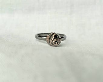 Silver Handmade, Unique Rose Ring size 6 and 3/4