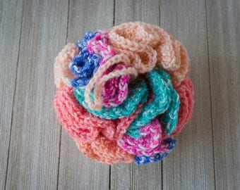 Bath Pouf, Loofah, Extra Large Bath Sponge, Bath and Spa Accessory, Handmade Bath Pouf, Crochet Bath Pouf