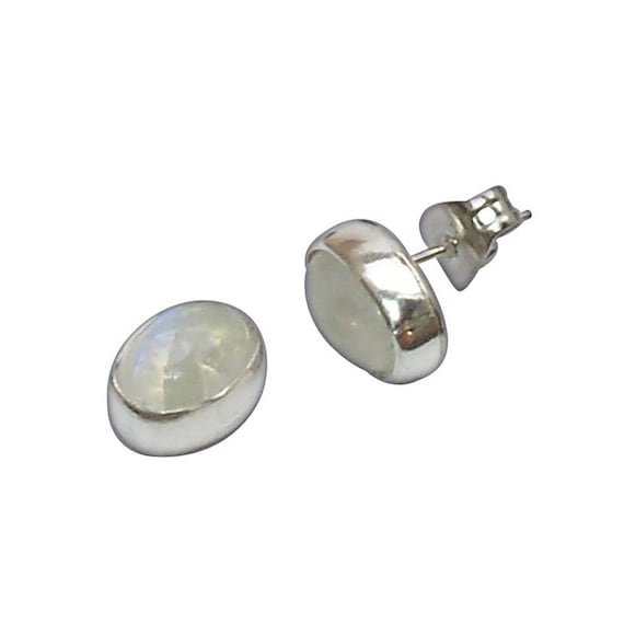 Moonstone and Sterling Silver Post Earrings  emnsc2942