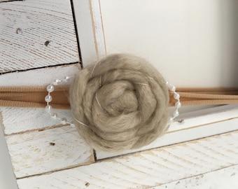 Nylon Headband, Handmade Yarn Flower, Baby Bow, Newborn Headband, Baby Headband, Baby Girl