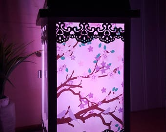 Lantern cherry blossom night light baby gift baby decor nursery ligth unique lamps