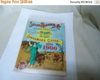 Ephemera & Books 50% Sale Vintage 1970 Sears Roebuck and Co. Fall 1900 Consumer's Guide, collectable, softback book