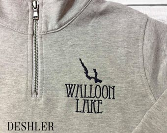 Walloon Lake Sweatshirt, Walloon Lake Pullover, Walloon Lake quarter zip, Walloon Lake, Walloon Lake quarter zip sweatshirt, Walloon gift