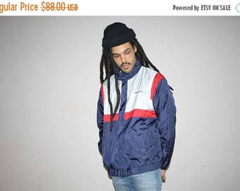 On SALE 35% Off - 1990s Vintage Adidas 3 Stripe Trefoil Hip Hop Windbreaker Jacket - 90s Adidas - 90s Clothing - MV0101