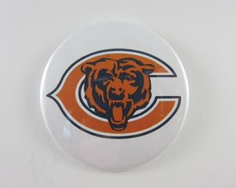 Chicago Bears Pin Back Buttons, Chicago Bears, Pin Back Buttons, Chicago Bears Magnets, Chicago Bears Mirror, Football Pins, Chicgo