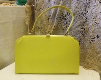 Vintage Yellow  Ladies Handbag