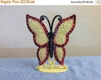 CLEARANCE Butterfly Metal Earring Display by Torino Retro Vintage 70s Jewelry Display Home Decor Vanity
