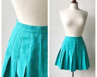 Vintage teal tennis skirt sz S