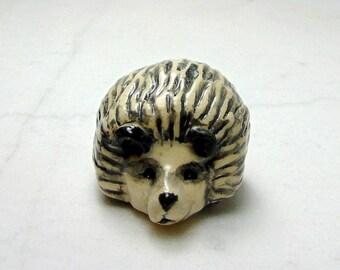 African Pygmy Hedge Hog Miniature - Fairy Garden Animal - Terrarium Miniature - Pottery Animals - Hedge Hog Sculpture - Clay Animal