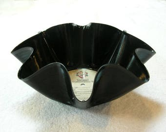 Rod Stewart Record Bowl Made From Repurposed Vinyl Album