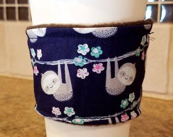 Sloth Coffee and Tea Cozy Sleeve