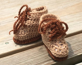 Baby Boy Combat Boots Crocheted  Army Booties Hunting Boots for Baby