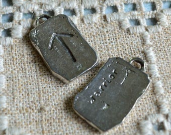 Tiwaz Rune Victory Warrior Sign Pewter Ancient Pendant Runes