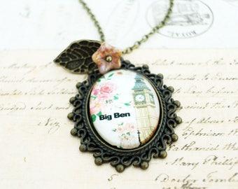 Big Ben Necklace,Big Ben Clock Tower Jewelry,London Big Ben Necklace