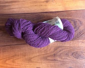 Yarn- 100% Wool- 2 ply Sport Weight- 200 Yards- Eggplant Purple