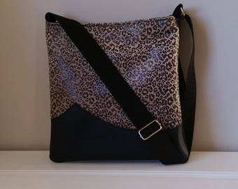 Black Fabric, Leather and Leopard