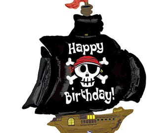 "Pirate Birthday Party Decorations - Pirate  Foil Balloon - 46 "" Birthday Balloon - Pirate  Decorations - jake pirate  Balloon"