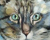 Pet Portrait of Hopper - Hand Painted Custom Order 14 x 14