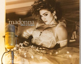 "ON SALE Madonna Vintage Vinyl LP Record Album 1980s Dance Pop Sex Controversy ""Like a Virgin"" (Original 1984 Wb w/""Material Girl"", ""Dress Yo"
