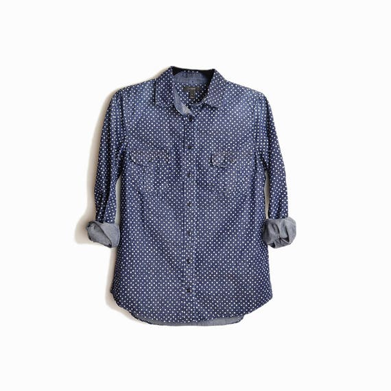 J.CREW Keeper Chambray Shirt in Star Dot #06723 - Women's 6